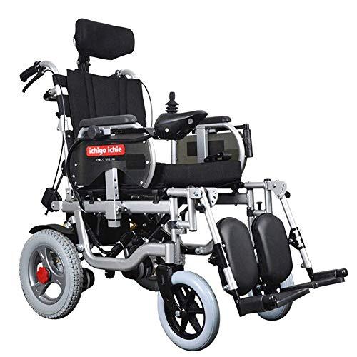 Inicio Accesorios Ancianos Discapacitados Silla de ruedas de aluminio para exteriores Silla de ruedas eléctrica Coche para ancianos Ligero Plegable Batería de litio Plegable Silla de ruedas automát