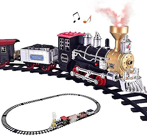 ZHLFDC Conjunto de Tren eléctrico de Coches de Juguete con Motor de...