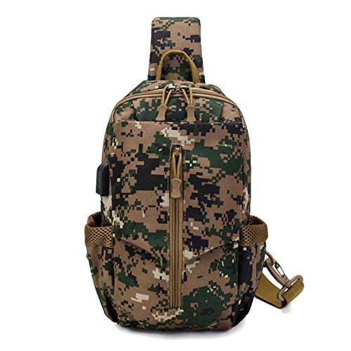 Select Zone, borsa tattica USB Oxford impermeabile petto borsa a tracolla borsa a tracolla borsa moda tempo libero (colore: Jungle Camo.)