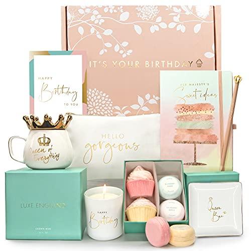 Happy Birthday Box for Women: 8 Birthday Gifts for Women Gift Baskets...