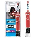 Oral-B Kids Star Wars Elektrische Zahnbürste mit Disney-Stickern, für Kinder ab 3 Jahren, rot