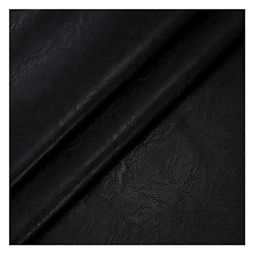 NAKAN 138x100cm Tela de Imitación de Cuero Patrón de La Vendimia para Tapicería, Manualidades DIY, Funda de Asiento de Sofá, Bolsos(Color:black1)