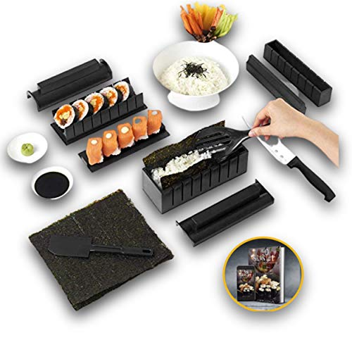 Lupso Kit Sushi Maker -Moules  Sushi Complet +Recueil...