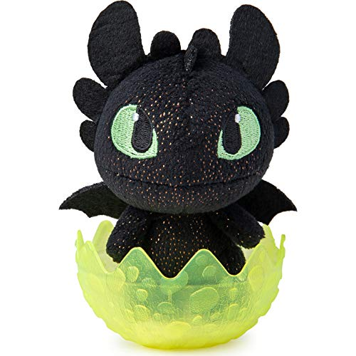 Dreamworks Dragons 6054907 Legends Evolved, Baby Toothless 7,5 cm Plüsch, Plüschdrache im Ei zum Sammeln