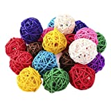STOBOK 40pcs riempitivi per vasi in rattan aromaterapia decorativi colorati in rattan con ...