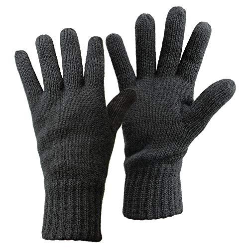 ALPIDEX Thermo Strickhandschuhe Thinsulate Handschuhe Damen Herren Warme Winter Handschuhe, Größe:L, Farbe:Dark Grey