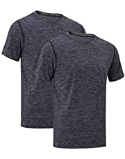 MEETYOO Heren Sport Shirt, korte mouw T-shirt Mesh Running Top Ademend Gym Tee voor Workout Jogging Fitness