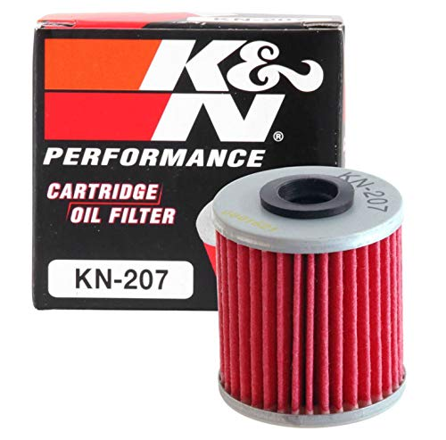 K&N Motorcycle Oil Filter: High Performance, Premium, Designed to be used with Synthetic or...