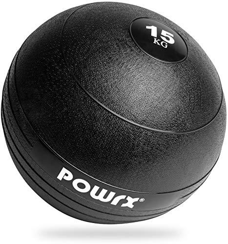 POWRX Slam Ball I de 3-20 kg I Slamball différentes Couleurs (Noir)