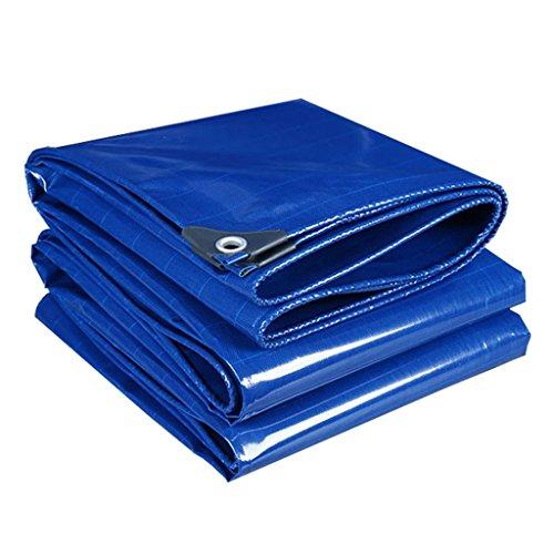 YFF-Lonas LIYFF- Azul Multiusos Impermeable a Prueba de Polvo Lona de Camiones Cubierta de Tela sábana coberturas, Grosor 0.34 mm, Opciones de Varios tamaños (Tamaño : 2MX2M)