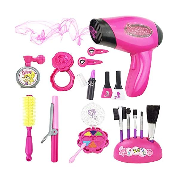 Liberty Imports Stylish Girls Pink Beauty Fashion Hair Salon Pretend Play Toy Set...