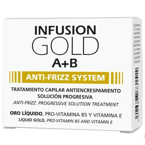 Tahe - Botanic Gold - TRATAMIENTO CAPILAR PROGRESIVO INFUSION GOLD A+B ANTI-FRIZZ SYSTEM