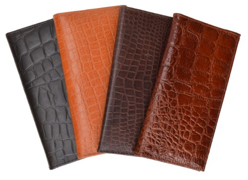 New Soft EEL Skin Leather Checkbook Wallet W//Snap Closure #E2575