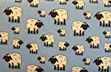 Jersey Schafe blau * Kinderstoff * Trikot * Meterware *