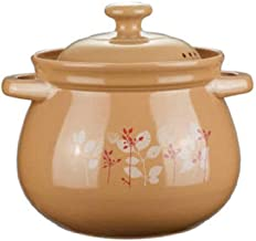 BAPYZ Unglazed Earthenware Casserole Soup Pot, Household Fire Stew Casserole, Gas Clay Pot, Ceramic Stewpot