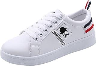 f94514d4d92a 🍀Amlaiworld Chaussures pour Femmes Baskets Rayées à la Barbe Fashion  Chaussures Plates Blanches Occasionnelles Baskets