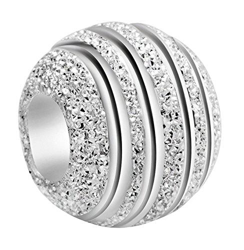 Andante-Stones 925 Sterling Silber Bead Charm STARDUST Element Kugel für European Beads mit Organzasäckchen