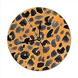 Lilyo-ltd - Reloj de pared silencioso con diseño de safari jaguar para el hogar, funciona con pilas, para cocina y oficina, escuela, estilo vintage chic