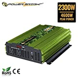Power Bright 2300 Watt 24V Power Inverter, Dual 110V AC Outlets, Modified Sine Wave, Automotive Back Up Power Supply Perfect for an Emergency, Hurricane, Storm or Outage - CE Approved