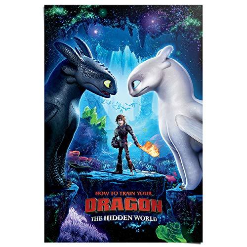 Maxi Poster Hoe tem je een draak Hidden World - Animatiefilm - 61 x 91 cm Jongenskamer