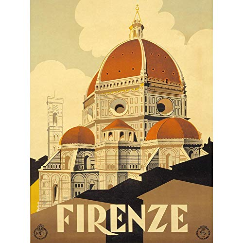 TRAVEL TOURISM FLORENCE ITALY BASILICA SANTA MARIA FIORE NEW FINE ART PRINT POSTER PICTURE 30x40 CMS CC4403