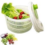WLLL Centrifuga Insalata, Spin Facile Grande Essiccatoio Insalata Centrifughe Insalata Dryer, per Lavare e Asciugare Le Verdure