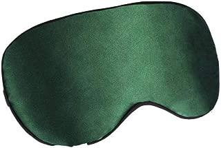 Máscara de ojo de seda máscara de ojo de seda hombres y mujeres transpirables bolsa de hielo para dormir material de seda frío y caliente@Verde pino