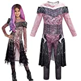 FINDPITAYA 2019 Déguisement Descendants 3 Mal / Evie / Belle / Uma Halloween Noel Cosplay Costume Enfant Gris (160cm)