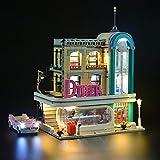 ADMLZQQ Conjunto De Luces para (El Experto En El Diner Diner Creator Experto) Restaurante Nostálgico Bloques De Construcción Modelo - Kit De Luz LED Compatible con Lego 10260 (No Incluido El Modelo)