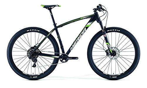 Merida Big.Nine Team - Bicicleta de montaña (2016, 29 pulgadas), color negro y verde, tamaño 38, tamaño de rueda 26.00