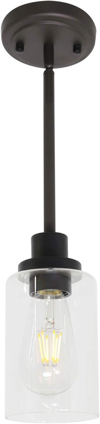 MELUCEE 1-Light Glass Pendant Light Edison Oil Industrial Style Sales Daily bargain sale