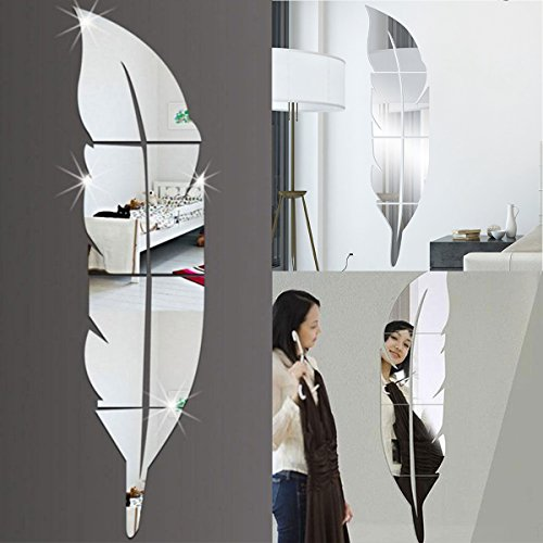 MJJEsports 3D Spiegel Vinyl Veer Muursticker Decal DIY Room Art Mural Verwijderbare Muur Papier Home Decor