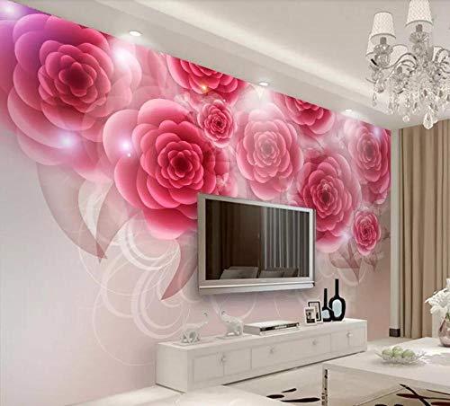 Fototapete 3D Effekt Tapete Romantik Der Roten Rose Vliestapete 3D Tapeten Wanddeko Wandbilder...