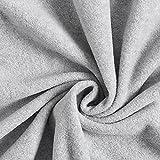 Fabulous Fabrics Fleece hellgrau, Uni, 150cm breit –