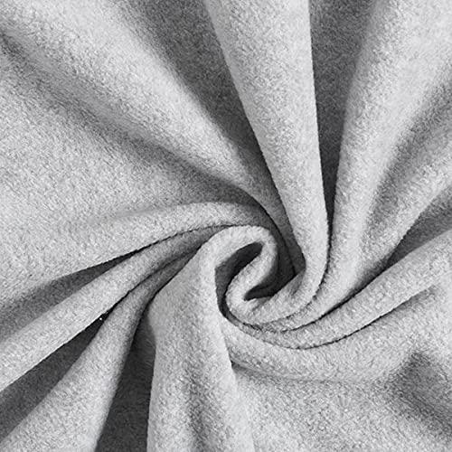 Fabulous Fabrics Fleece hellgrau, Uni, 150cm breit – Fleece zum Nähen von Tagesdecken & Nachtwäschen – Meterware erhältlich ab 0,5 m