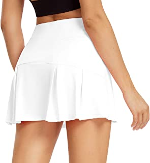 Sobrisah Women's Athletic Skort with Pocket Lightweight Sport Skirt with Shorts for Yoga Workout Running Tennis Golf