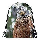 Yuanmeiju Bird Orange Bird Cute Custom Drawstring Shoulder Bags Bolsa de Gimnasio Mochila de Viaje Lightweight Gym for Man Women 16.9'x14'