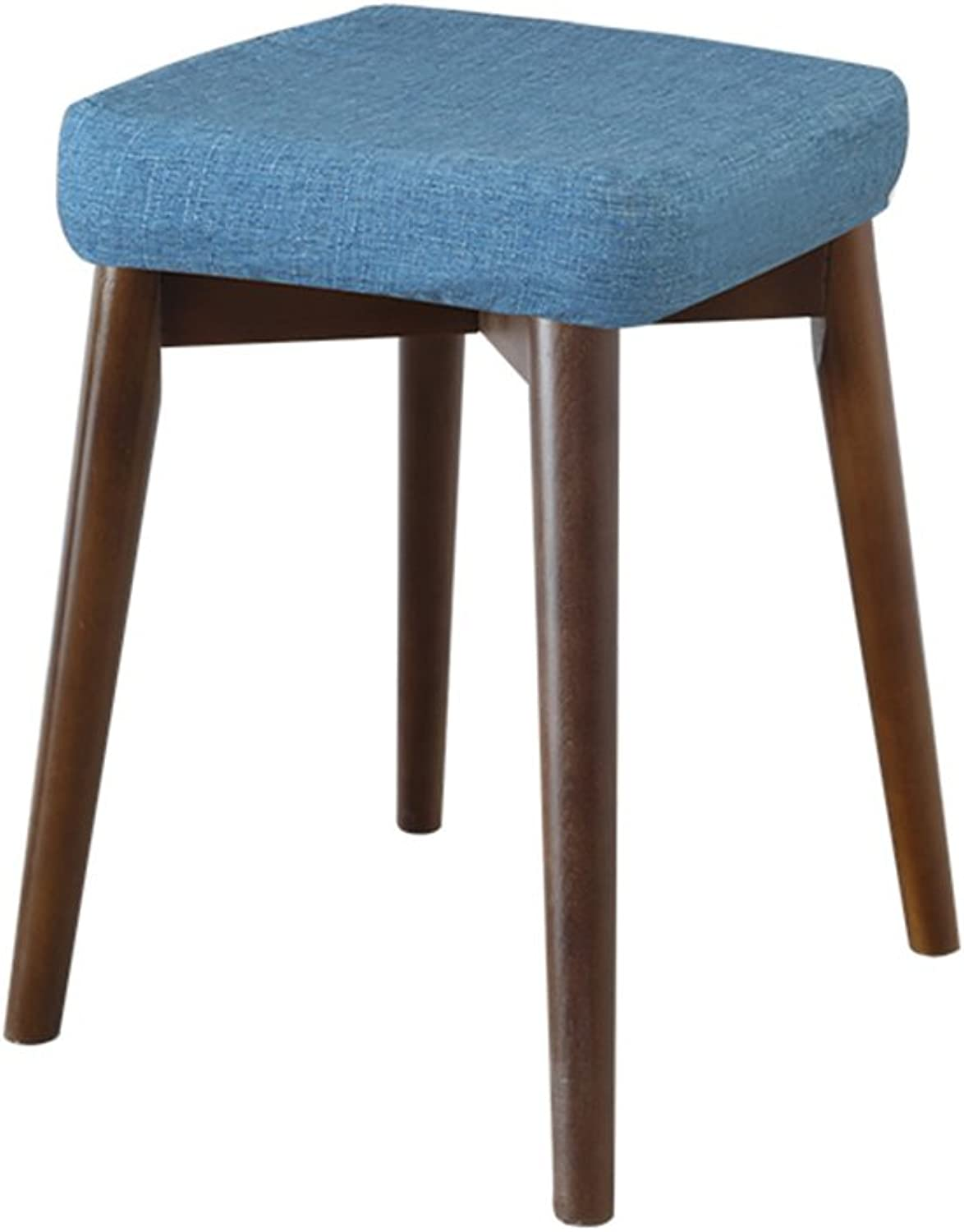 Small Square Stool Cloth Sponge Washable 37  37  45cm Strong Bearing Easy to Assemble High Stool (color   bluee, Size   A)