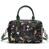 Bromen Womens PVC Coated Leather Fashion Top-Handle Handbag