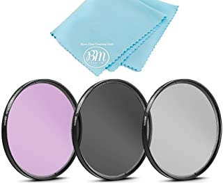 58mm Multi-Coated 3 Piece Filter Kit (UV-CPL-FLD) for Select Canon, Nikon, Sony, FujiFilm, Olympus, Pentax, Sigma, Tamron ...