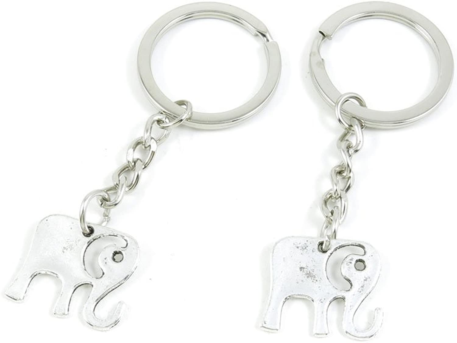 190 Pieces Fashion Jewelry Keyring Keychain Door Car Key Tag Ring Chain Supplier Supply Wholesale Bulk Lots J7TK6 Cute Elephant