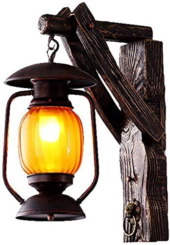 ZJJZ American Country Lámpara de Pared Rural Retro Lámpara