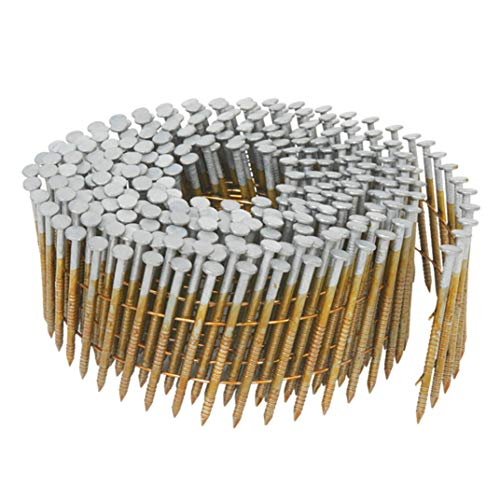 Metabo HPT Siding Nails | 1-3/4-Inch x .092-Inch | Collated Wire Coil | 15 Degree | Full Round-Head | Ring Shank | Hot-Dipped Galvanized | 3600 Count | 13363HPT