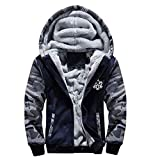 One Piece Anime Cosplay Costume Jolly Rogers Hoodie Sweatshirt Tops Coat Outwear Camouflage Thick Sweater (Small, Style 2)