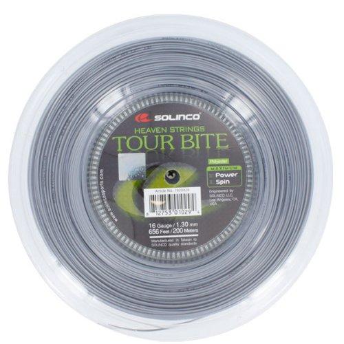 Solinco Saitenrolle Tour Bite Soft, Silber, 200 m, 0555220122000016