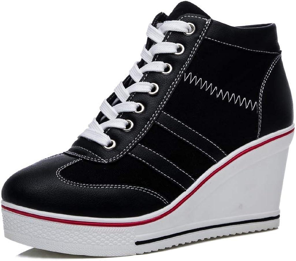 Max 42% OFF Women's Wedge Sneakers Platform High Ankle Heel Ranking TOP20 B