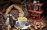 YANCONG Puzzle Personalizado 500 Piezas, Bodegón De Comida Retro Café Turco Rompecabezas para Niños 52X38Cm