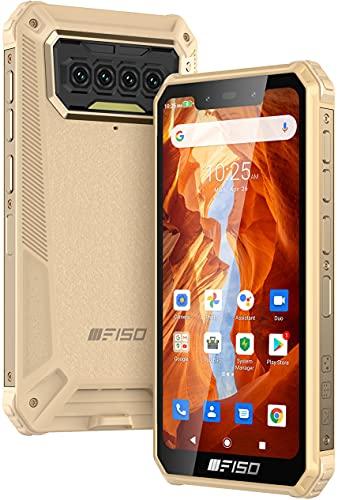 Rugged Smartphone IIIF150, IP68 Impermeabile, 6GB RAM + 64GB ROM, 256GB Espandibile, Batteria 8000mAh, Dual SIM 4G Android 10.0, Modalità Doppia UI, Display HD 5,86 , Quad Camera, NFC GPS, Giallo