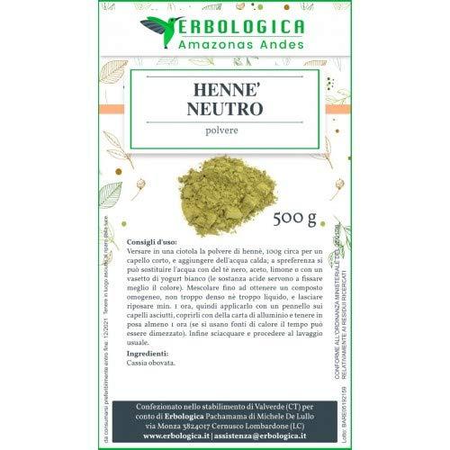 Henne' neutro 500 grammi, rimedio naturale per capelli sfibrati.