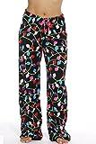 6339-10122-S Just Love Women's Plush Pajama Pants - Petite to Plus Size Pajamas,Black